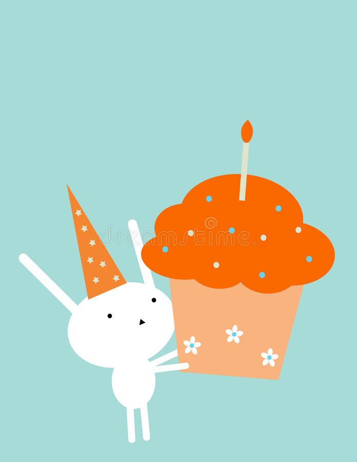 Coniglietto di compleanno illustrazione vettoriale