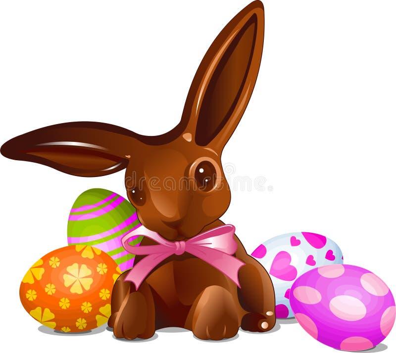 Coniglietto di pasqua del cioccolato illustrazione di stock