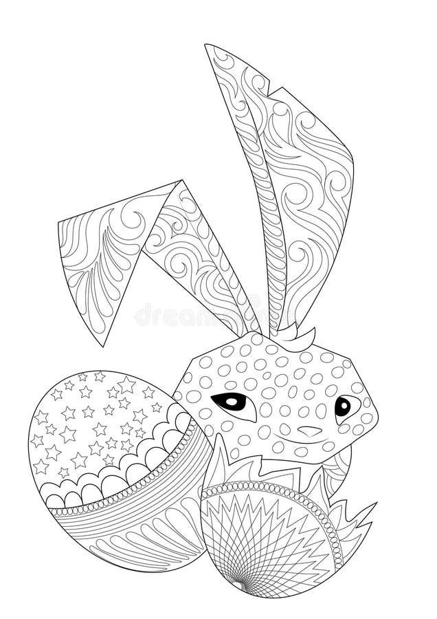 Coniglietto di pasqua di nascondino con il modello royalty illustrazione gratis