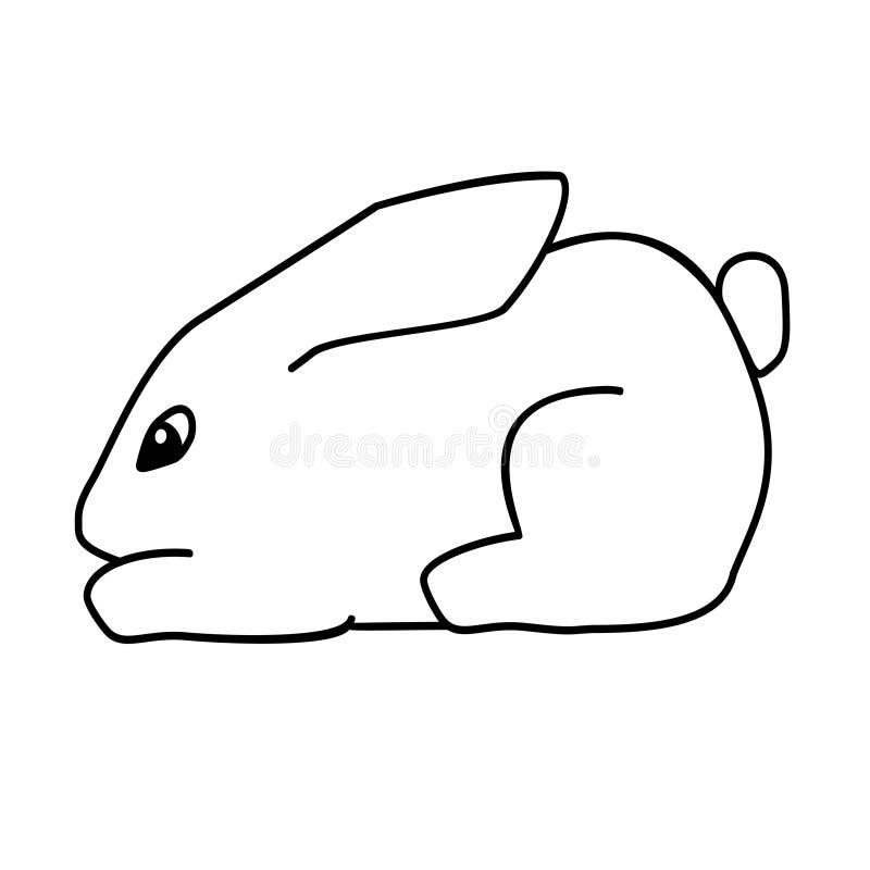 Coniglietto di pasqua piccolo sveglio Illustrazione di vettore isolata su fondo royalty illustrazione gratis