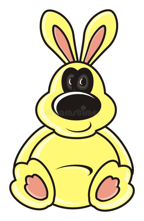 Coniglietto giallo illustrazione di stock