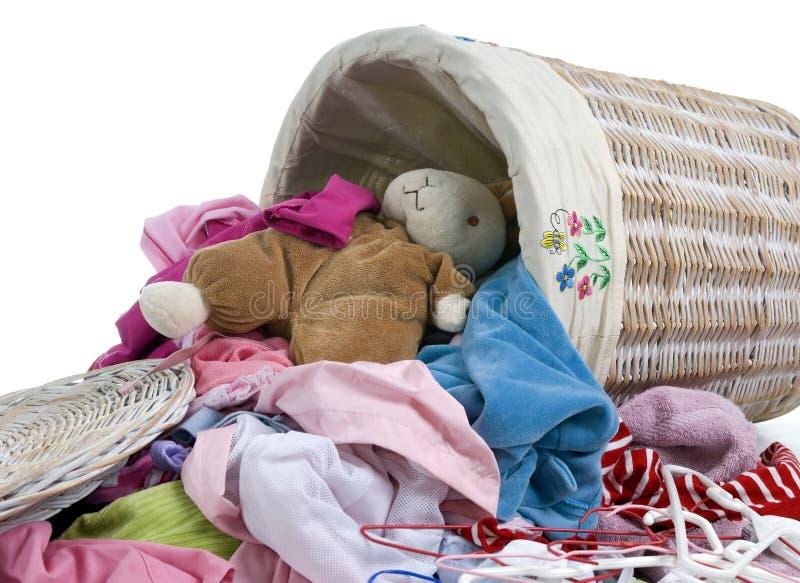 Coniglietto nella lavanderia fotografia stock