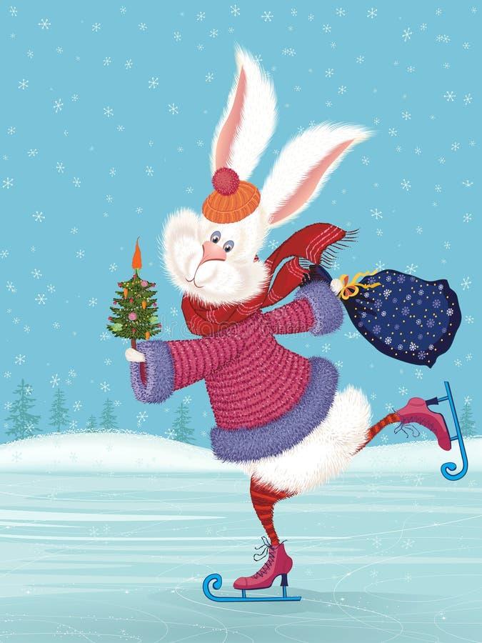 Coniglio bianco illustrazione di stock