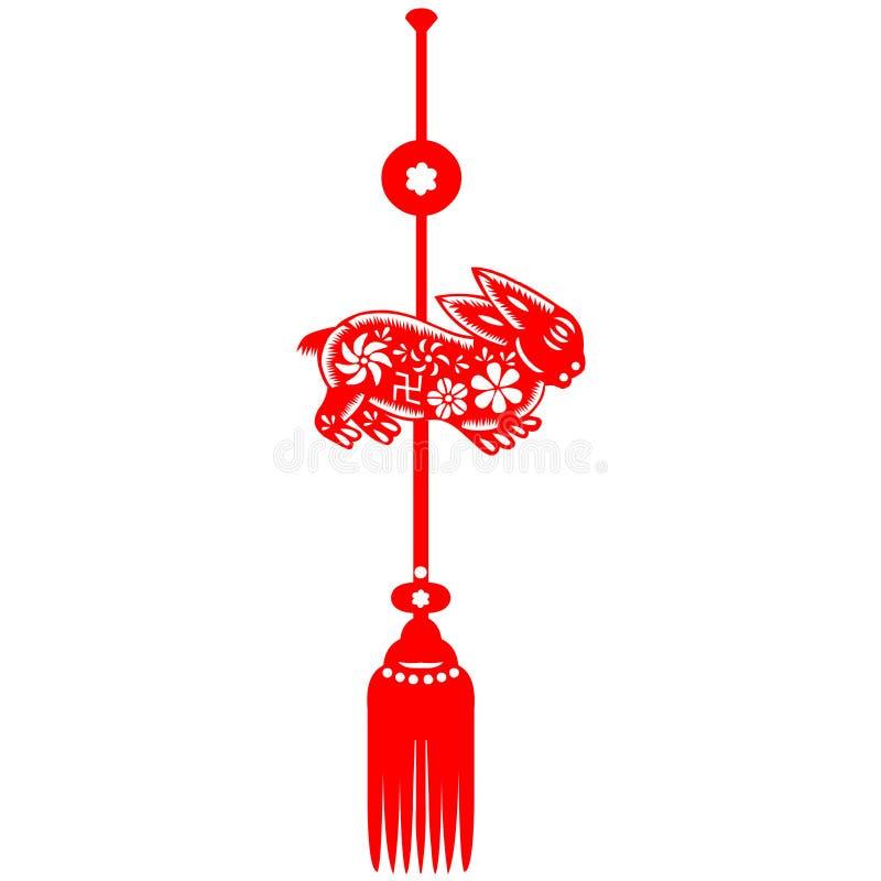 Coniglio cinese di nuovo anno illustrazione di stock