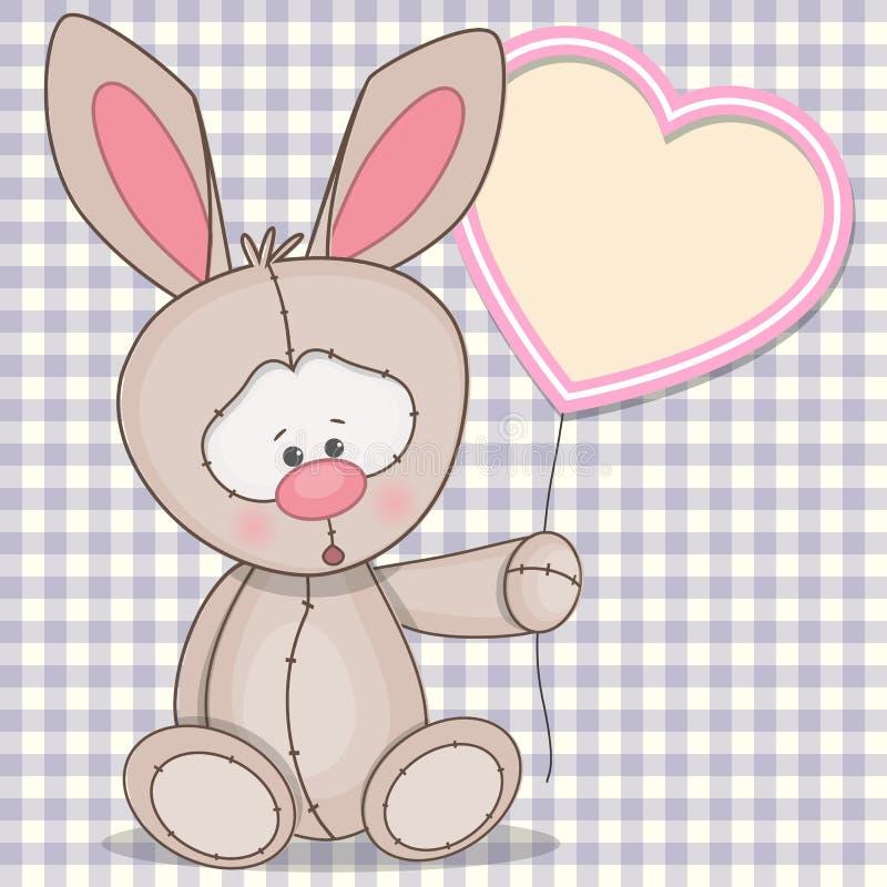 Coniglio con cuore illustrazione vettoriale