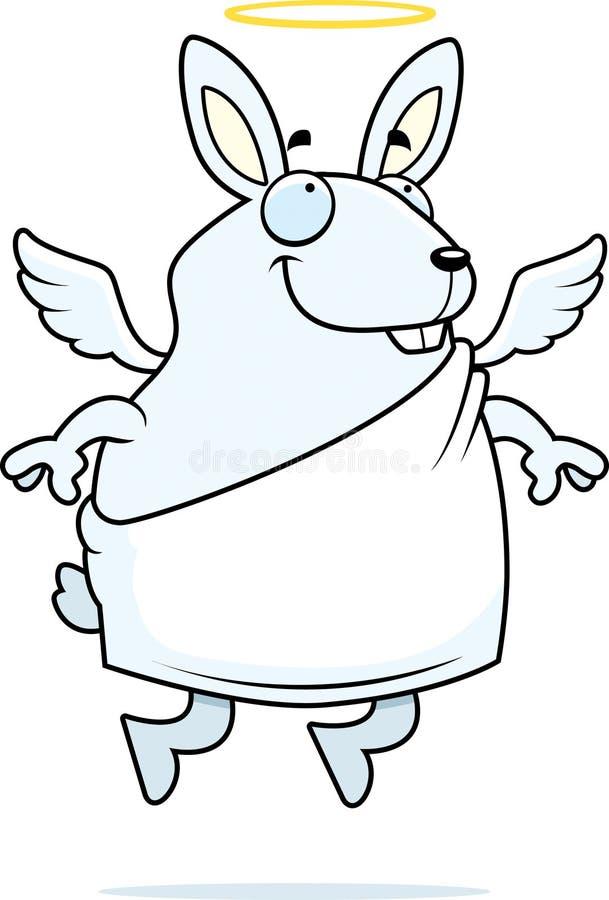 Coniglio di angelo illustrazione vettoriale