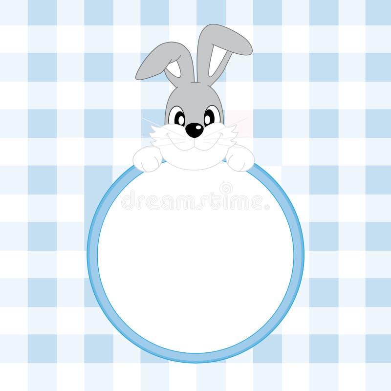 Coniglio di annuncio del neonato royalty illustrazione gratis