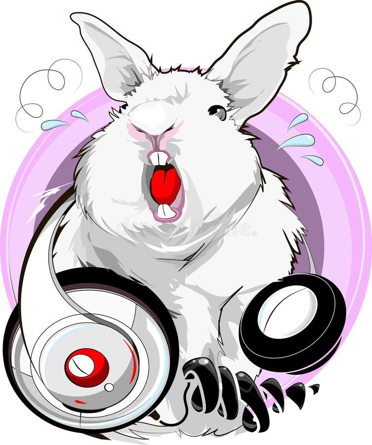Coniglio di canto royalty illustrazione gratis