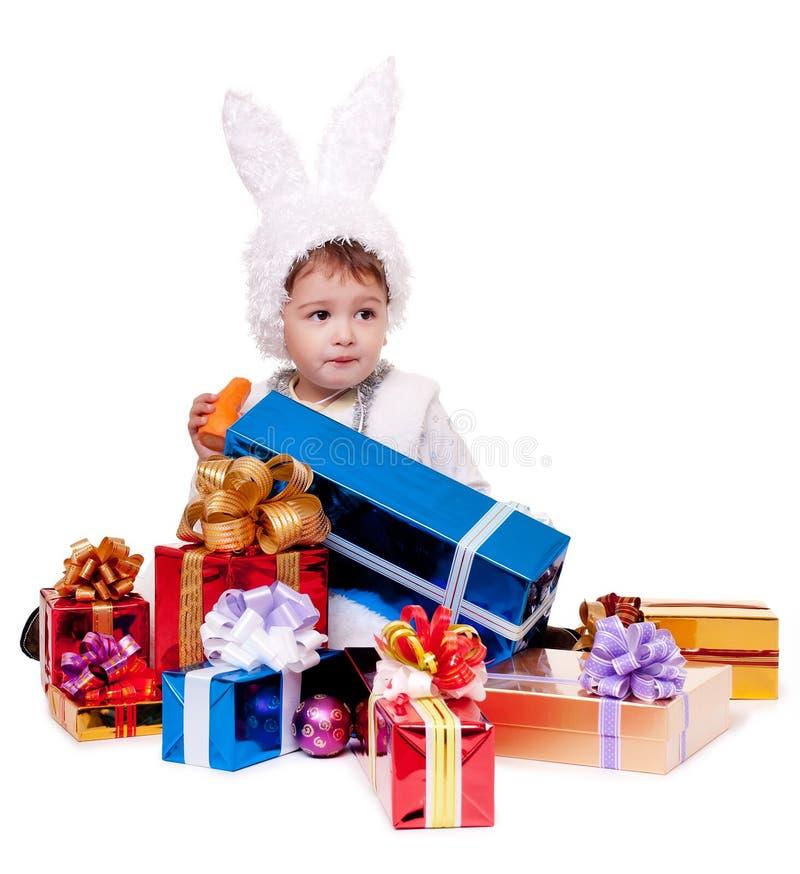 Coniglio di nuovo anno fotografia stock