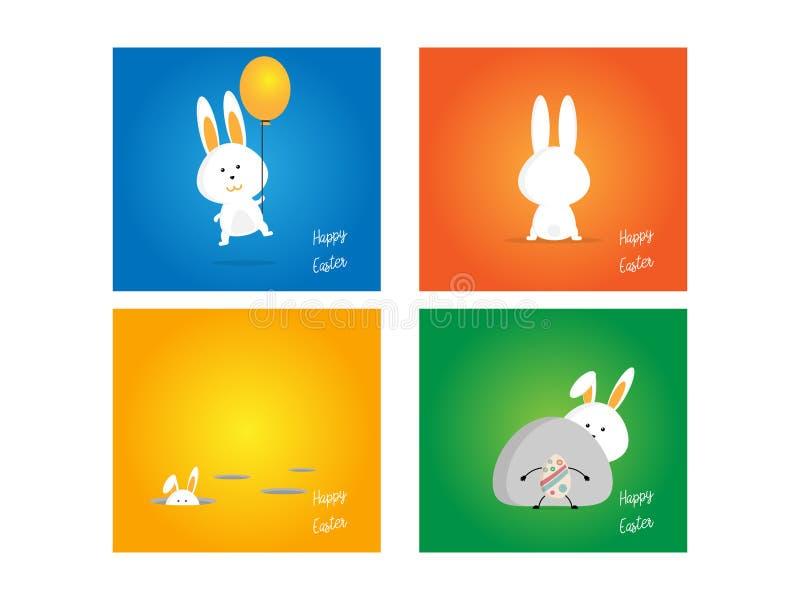 Coniglio di Pasqua, coniglietto su fondo variopinto royalty illustrazione gratis