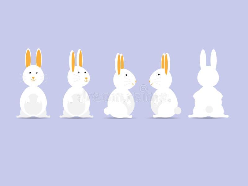 Coniglio o coniglietto pasqua felice illustrazione di stock