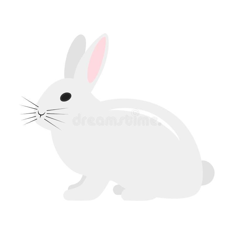 Coniglio piano dell'icona illustrazione vettoriale