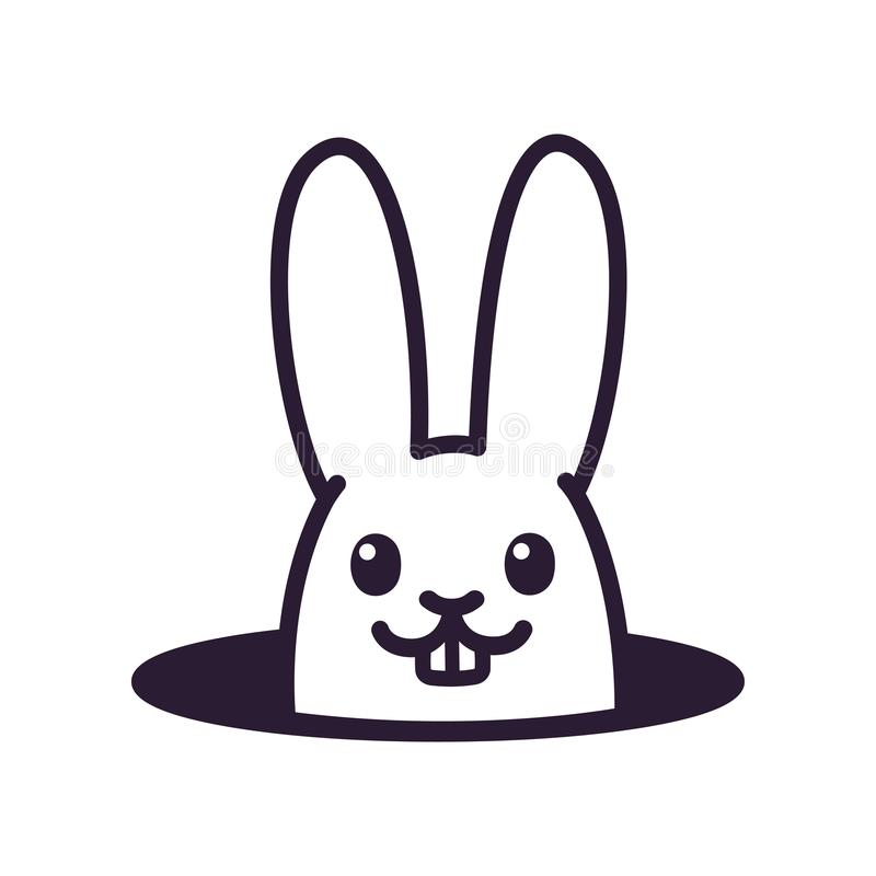 Coniglio sveglio del fumetto in foro royalty illustrazione gratis