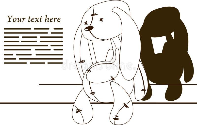 Coniglio triste illustrazione vettoriale