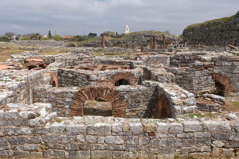 Conimbriga, Beiras region, P. Roman ruins of the ancient city of Conimbriga, Beiras region, Portugal royalty free stock photos
