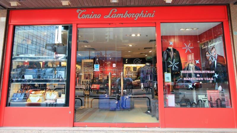 Conino lamborghini商店在香港 免版税库存照片