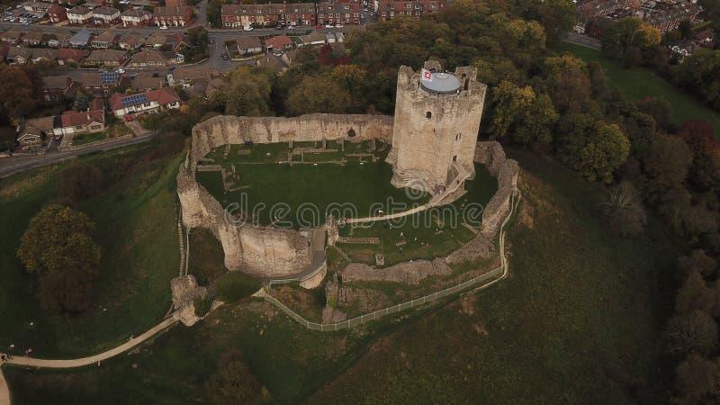 conisbrough城堡唐卡斯特英国英国 免版税库存图片