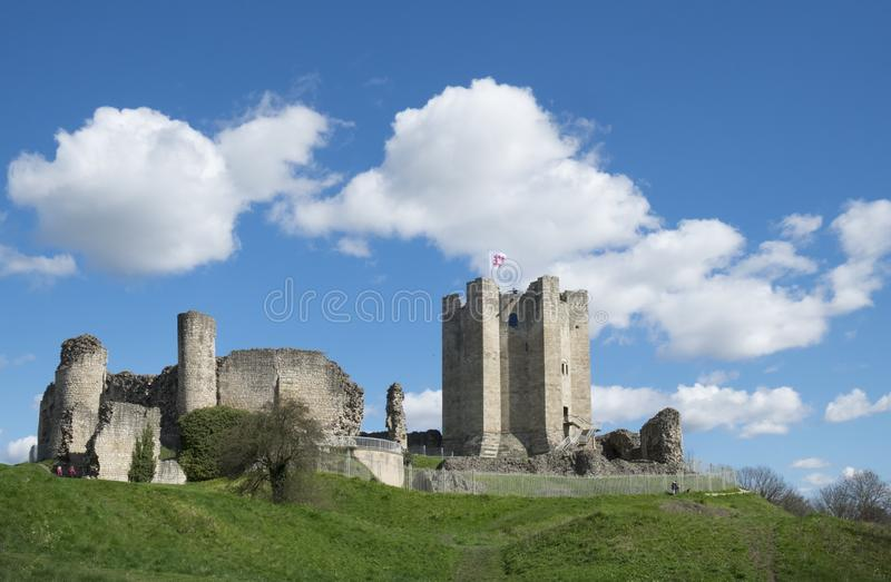 Conisbrough Castle, Conisbrough, South Yorkshire, UK 17th April 2016 The medieval castle which stands between Rotherham and Doncas stock photography