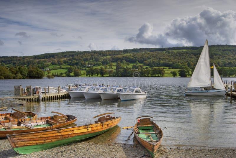 coniston wat łódź przyjemności fotografia royalty free