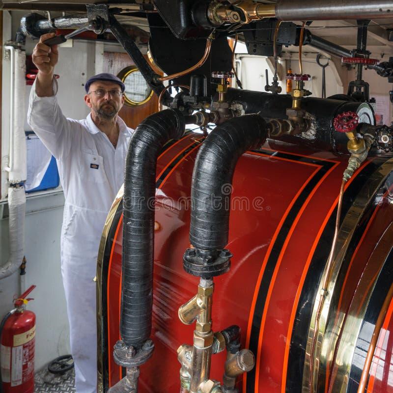 CONISTON WATER, MEER DISTRICT/ENGLAND - 21 AUGUSTUS: Ketelruim royalty-vrije stock foto's