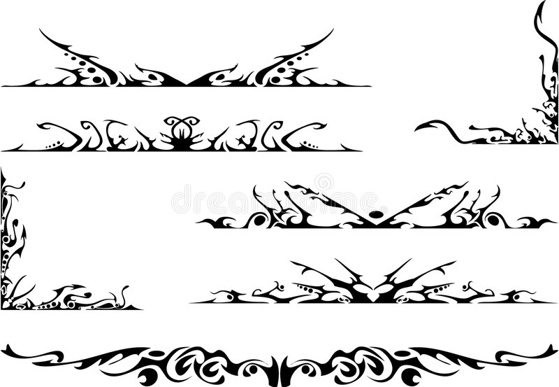 Conjunto adornado tribal libre illustration