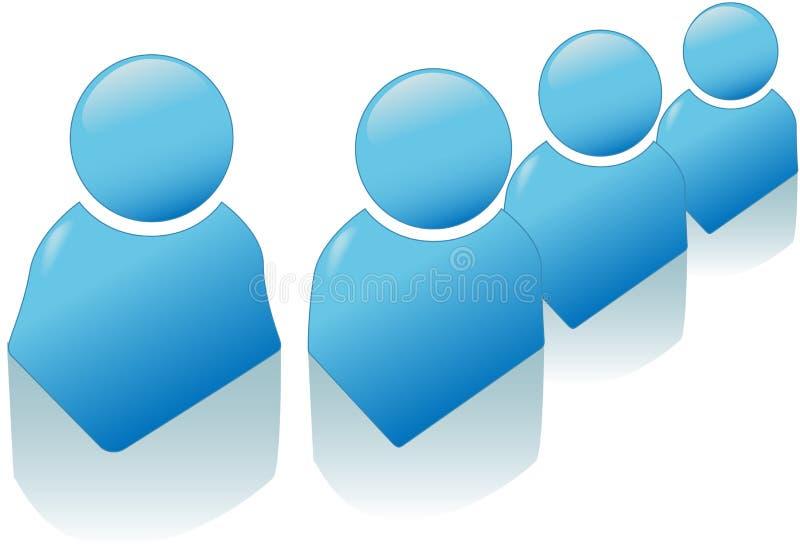 Conjunto azul brillante del icono del símbolo de la gente libre illustration