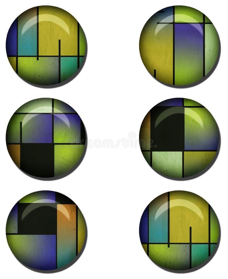 Conjunto brillante abstracto del botón libre illustration