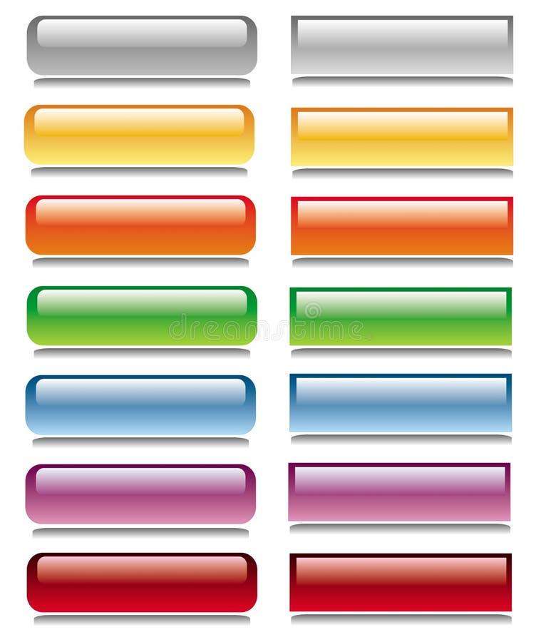 Conjunto brillante del botón foto de archivo libre de regalías