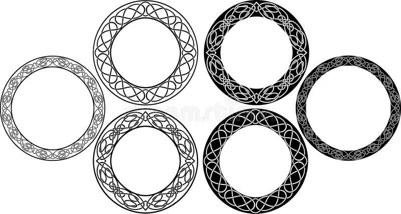 Conjunto céltico del círculo imágenes de archivo libres de regalías