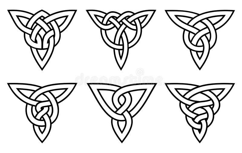 Conjunto céltico del nudo imagen de archivo libre de regalías