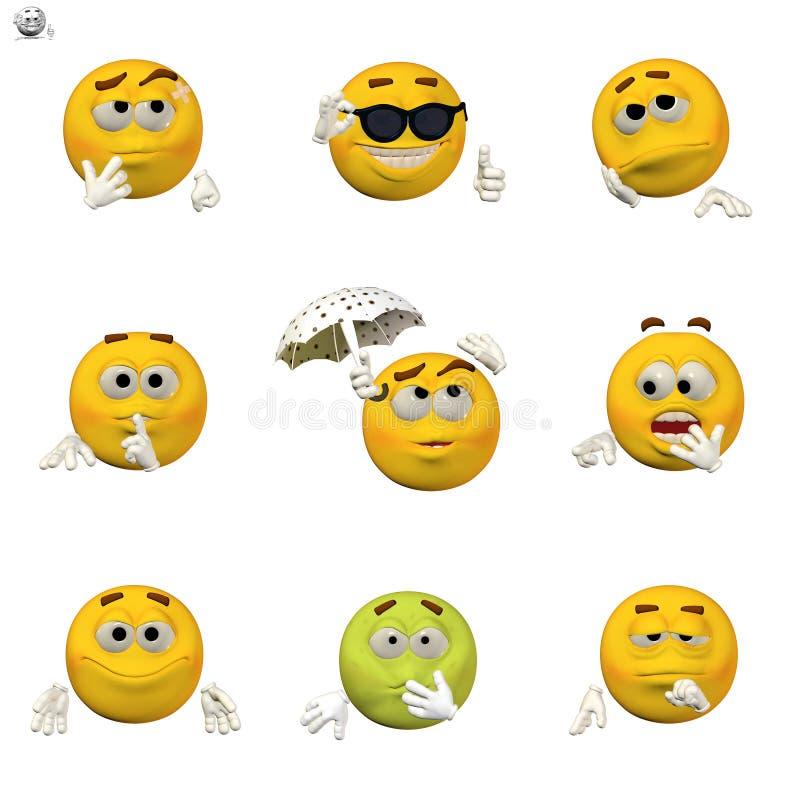 Conjunto cómico del emoticon libre illustration