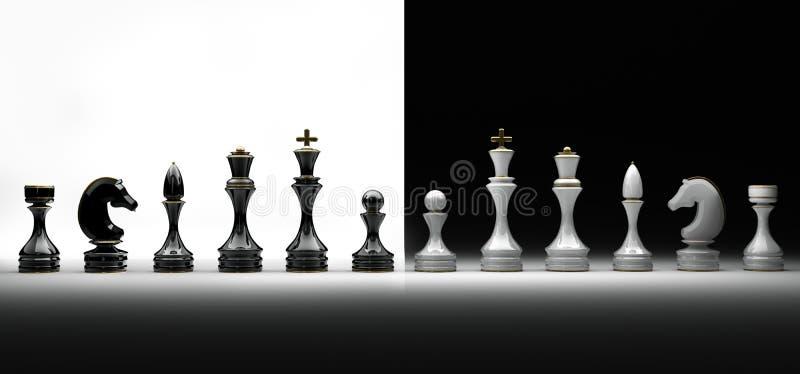 Conjunto completo de ajedrez libre illustration