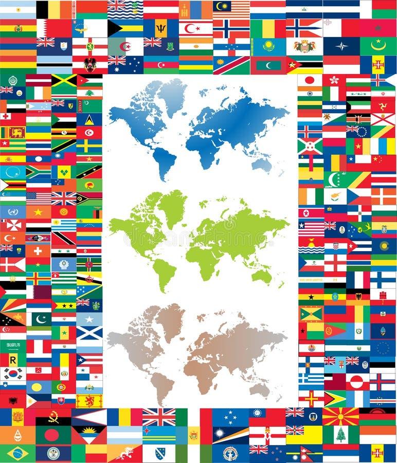 Conjunto completo del indicador del mundo stock de ilustración