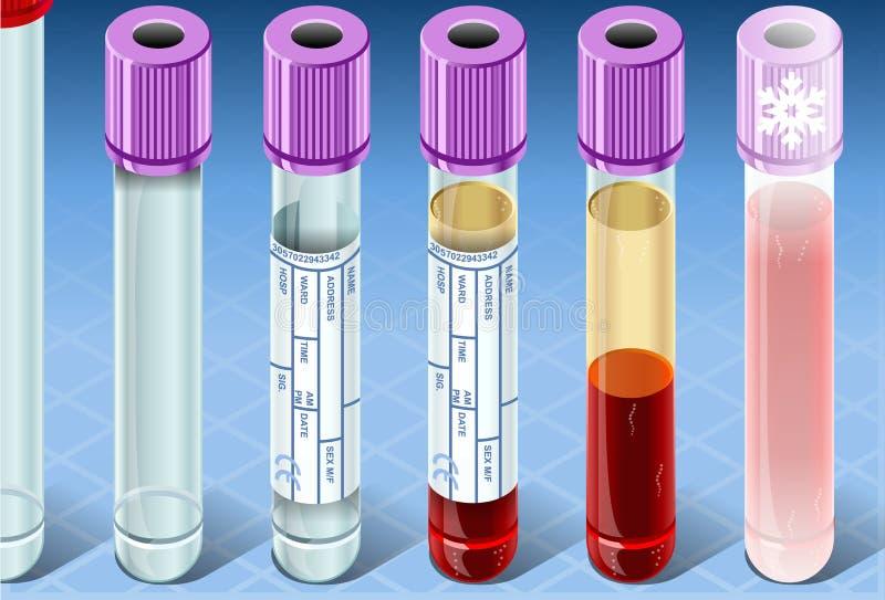 Conjunto completo isométrico de la prueba de la bioquímica libre illustration