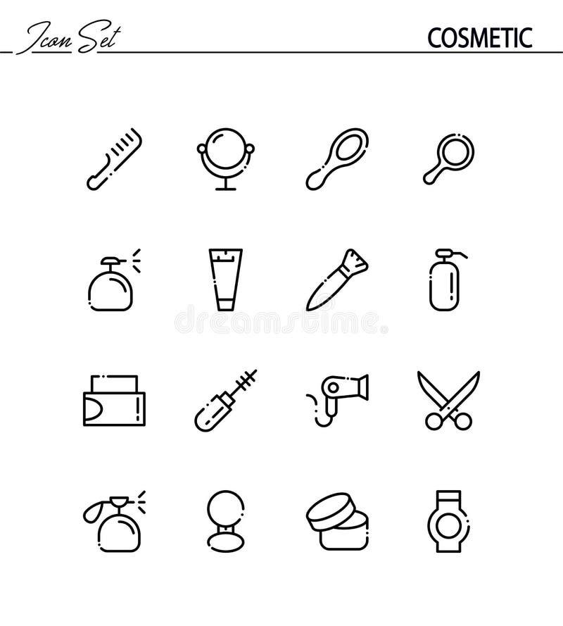 Conjunto cosmético del icono libre illustration