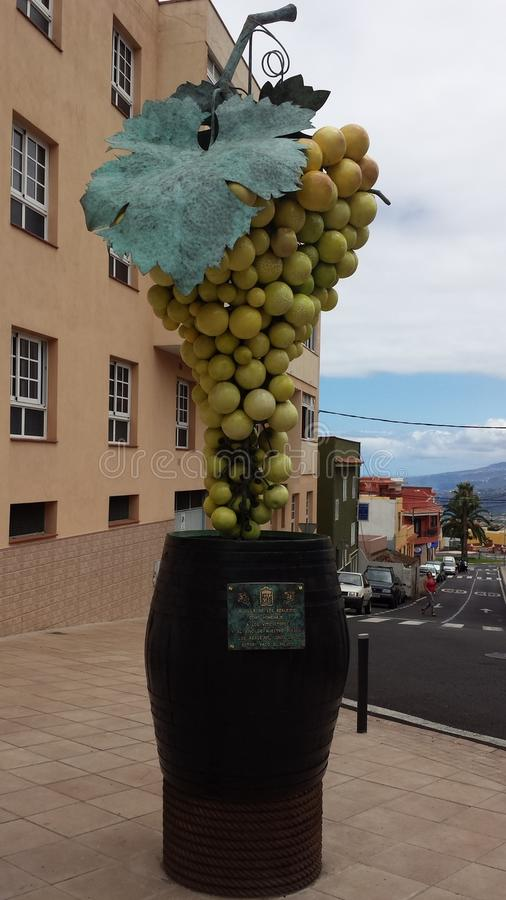 Conjunto da escultura de uvas foto de stock royalty free