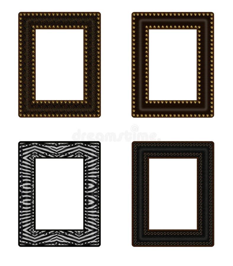 Conjunto de 4 bastidores ilustración del vector