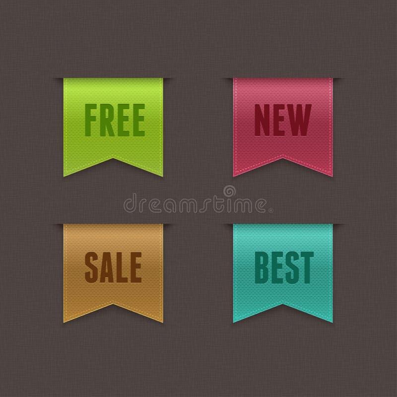 Conjunto de 4 cintas del vector de la calidad libre illustration