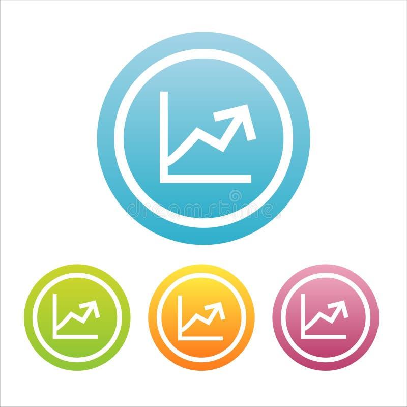 Conjunto de 4 muestras del diagrama stock de ilustración