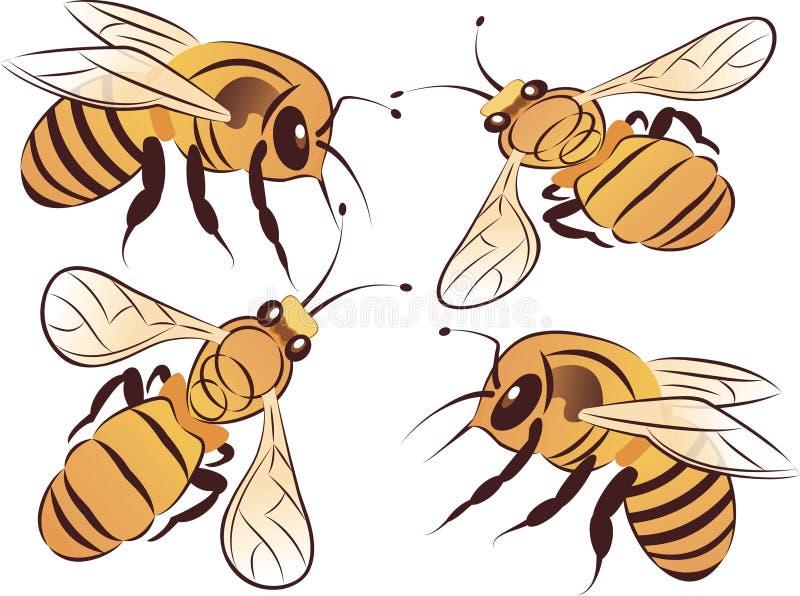Conjunto de abejas libre illustration