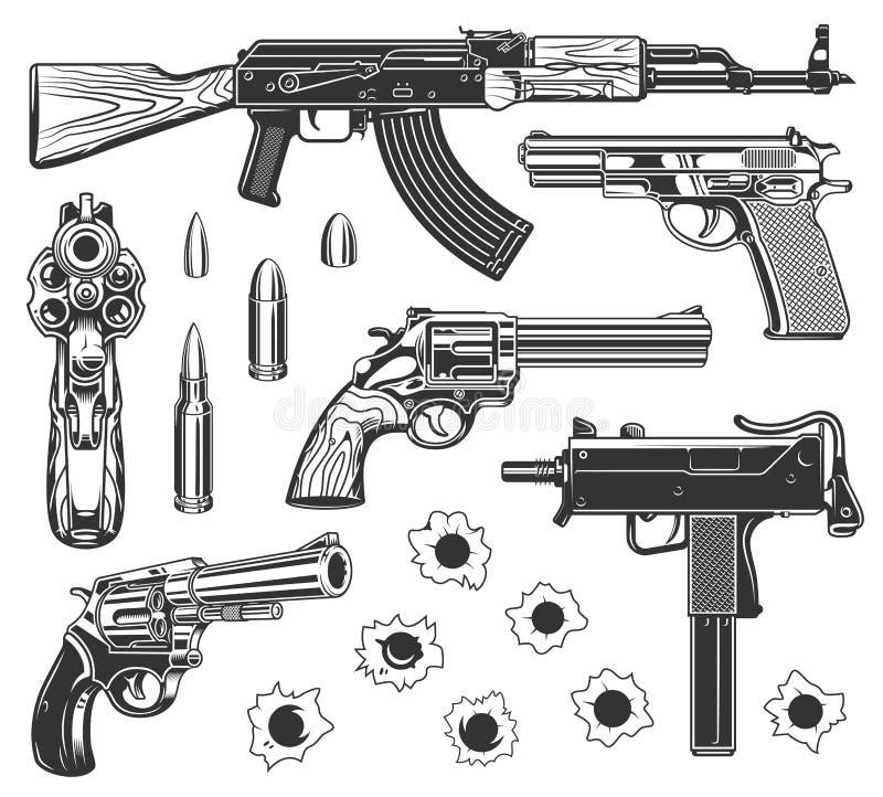Conjunto de agujeros de punto negro stock de ilustración