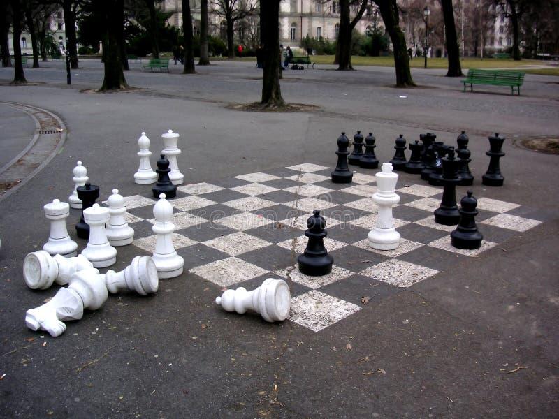 Conjunto de ajedrez imágenes de archivo libres de regalías