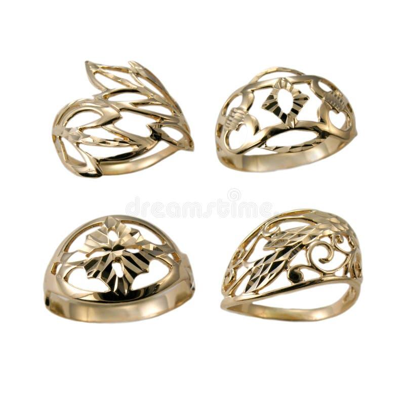 conjunto de anillos de oro de la joyera