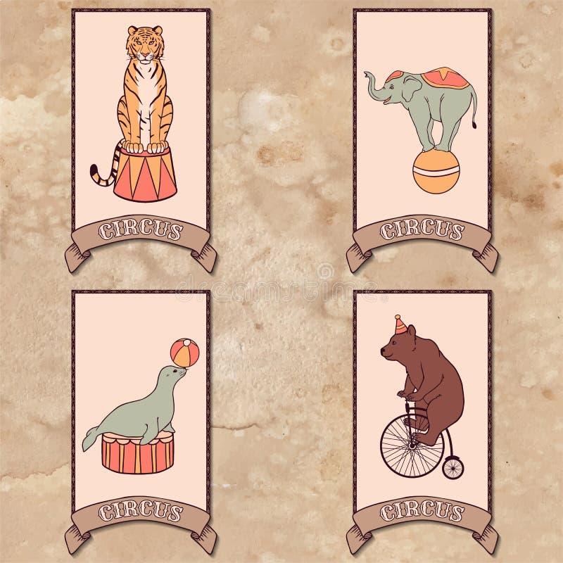 Conjunto de animales de circo libre illustration