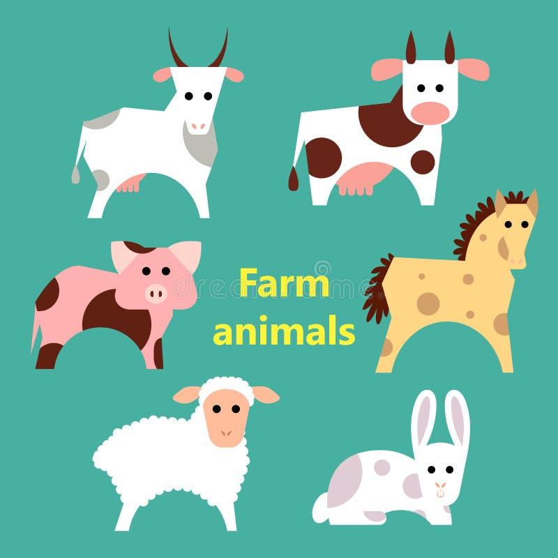Conjunto de animales del campo libre illustration