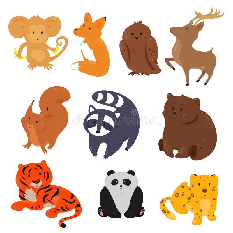 Conjunto de animales lindos de la historieta libre illustration
