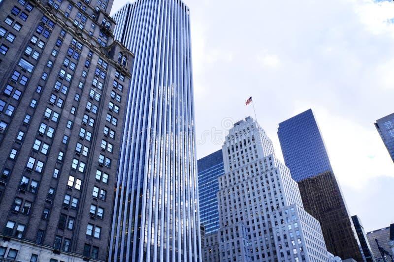 Conjunto de arranha-céus no Midtown Manhattan, NYC fotografia de stock