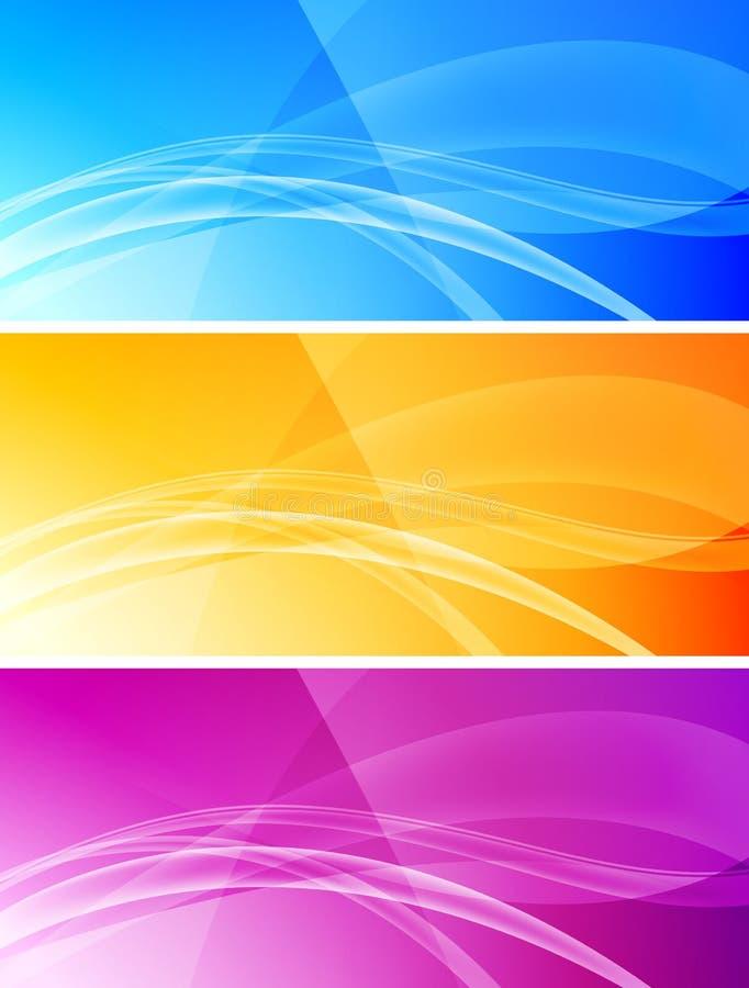 Conjunto de banderas abstractas - EPS 10 ilustración del vector