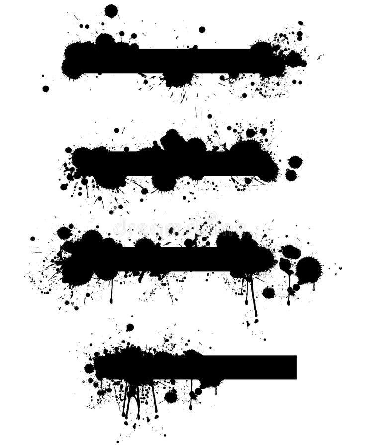 Conjunto de banderas de la salpicadura del vector de Grunge ilustración del vector