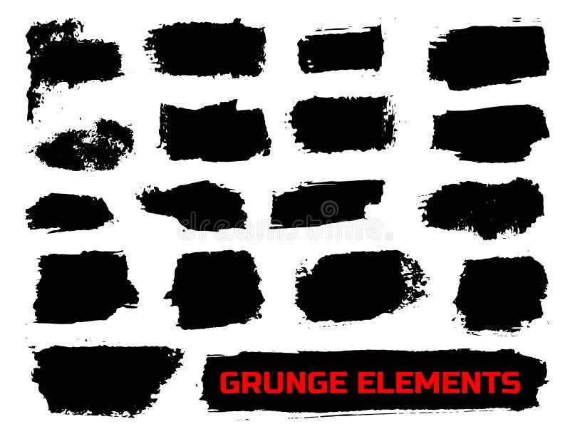 Conjunto de banderas del grunge libre illustration